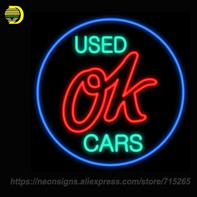 NEON SIGNS Chevy Vintage Ok Gebruikt Auto Handcraft Neon Lamp Lamp ...