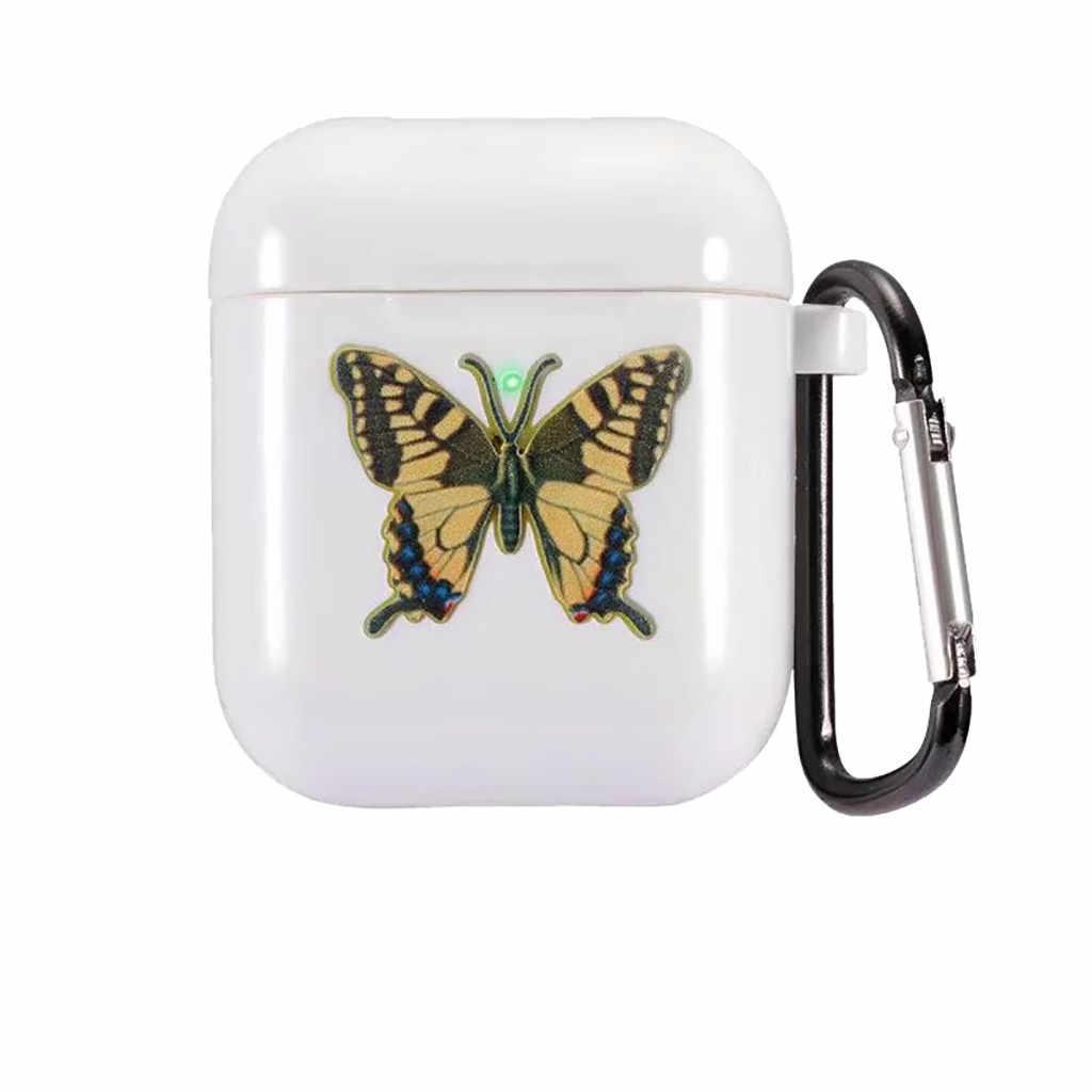 Funda protectora anti-perdida de TPU con mangas mariposa de 12 colores a la moda para Apple2 con gancho para la oreja N