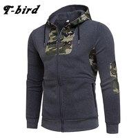 T Bird 2017 Hoodie Men Cardigan Camouflage Printing Hip Hop Sweatshirt Men S Hoodies Autumn Winter