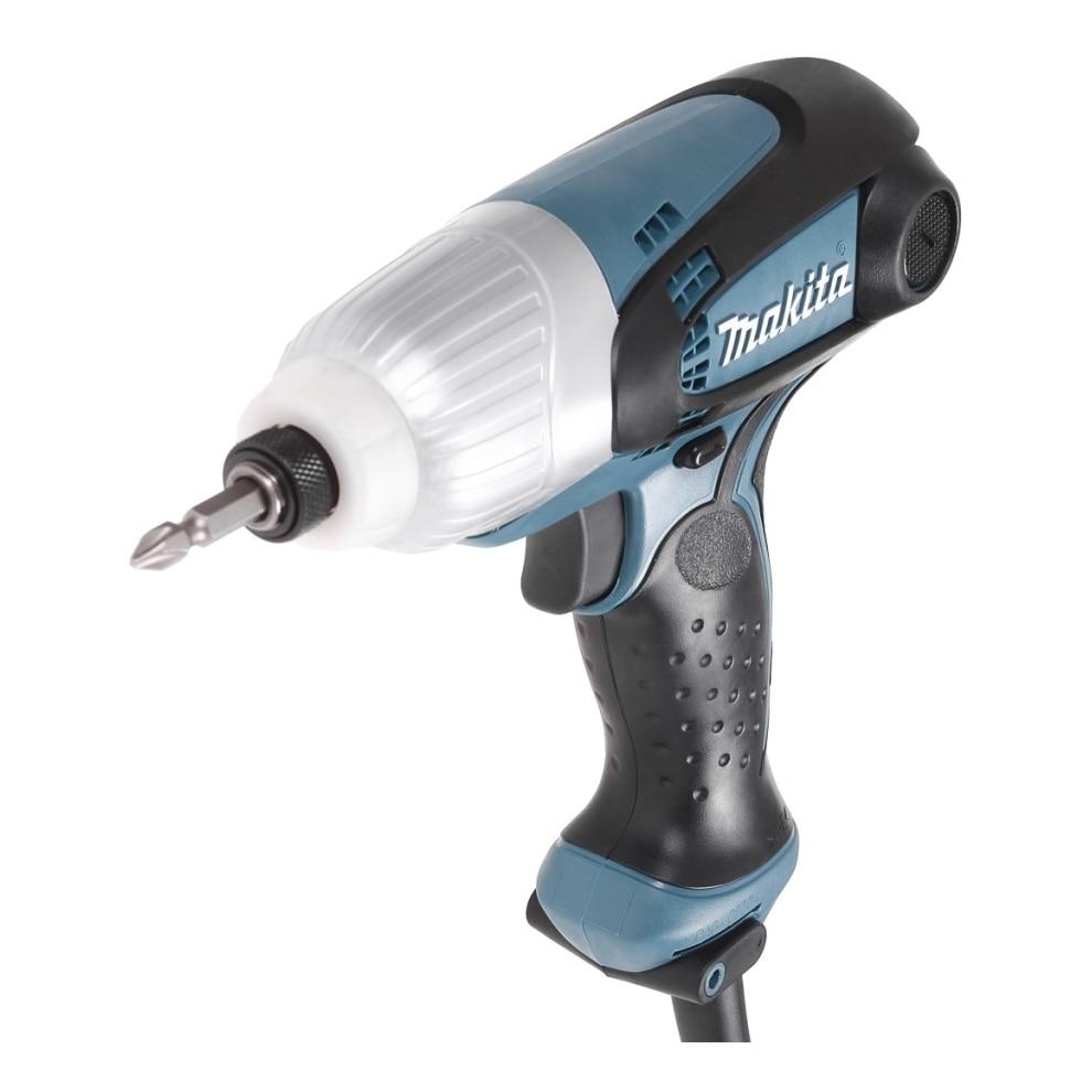 Electric drill screwdriver Makita TD0101 (230 W Power, torque 100 Nm, Screwing with blows) electric drill screwdriver redverg rd sd330 330 w power torque 15нм 2 speed