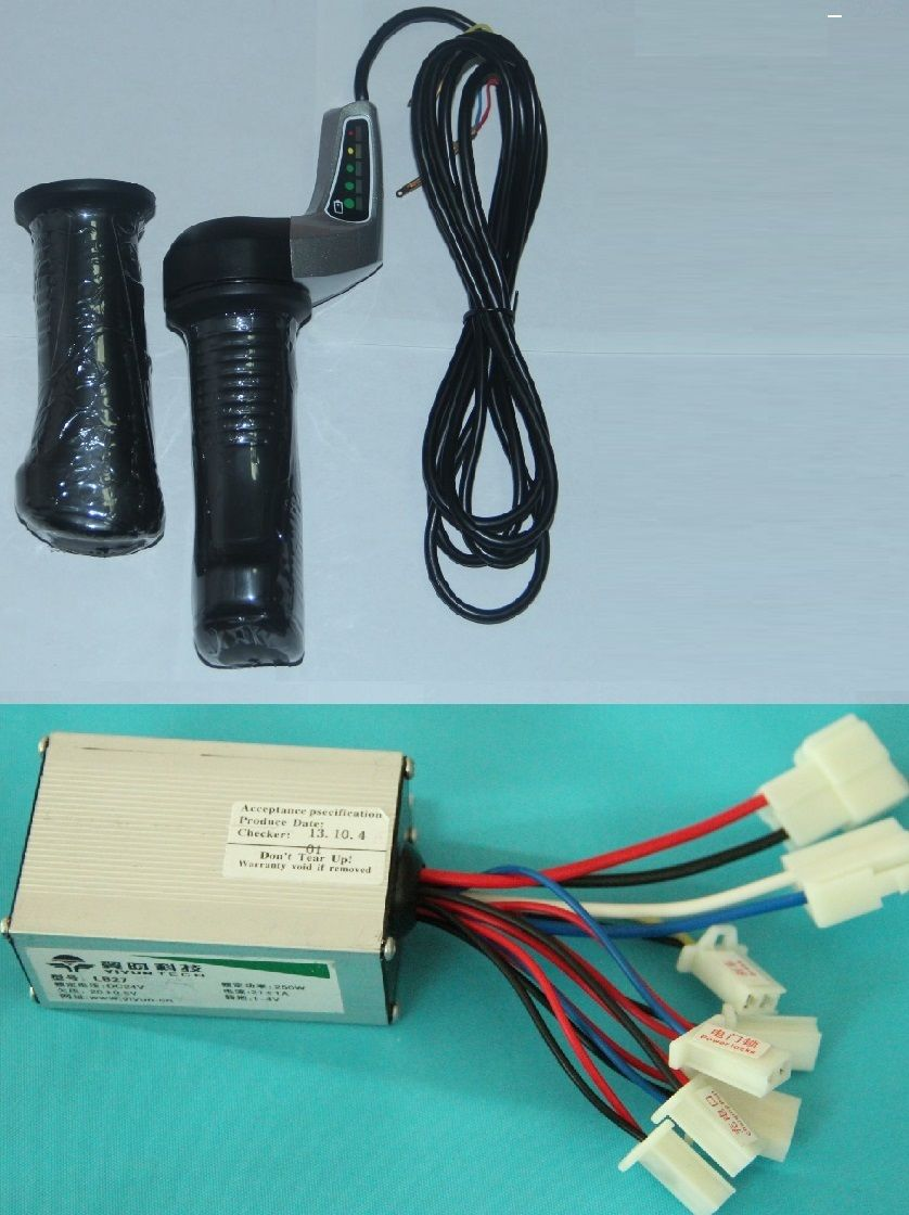 hight resolution of 24v 250w dc motor brushed controller speed control box throttle twist grip wuxing for electric