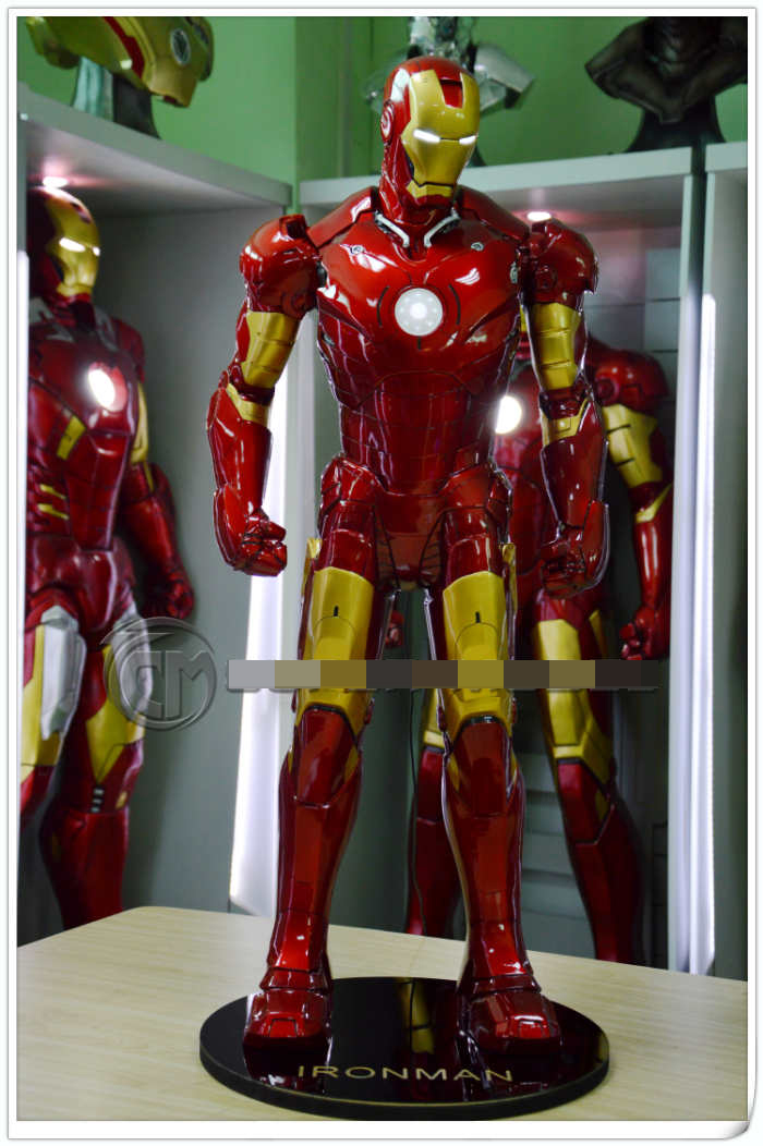 New 1/2 Scale Super Hero Iron Man MK3 Tony Strak Big Full Body Statue With Led Light (EYE AND BODY)Avengers Recast statue avengers captain america 3 civil war iron man tony stark 1 2 bust mk33 half length photo or portrait with led light w216