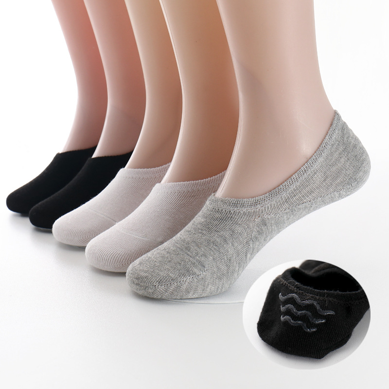 Kids Boys Socks Slippers Cotton Non-slip Silicone Invisible No Show Boat Socks Girls Children Stealth Socks Short School Pairs