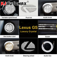 KJAUTOMAX Crystal Decoration For LEXUS GS300 200T300H 450H Engine Start Button Logo Instrument Outle Sticker Clock Ring