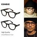 ESNBIE Высокое качество 2 размера Джонни Депп Стиль Очки Мужчины Ретро Винтаж Очки для зрения Женщины Оптические очки кадра круглый - фото