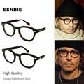 Esnble alta calidad acetato Johnny Depp estilo gafas hombres Retro Vintage gafas de prescripción mujeres gafas ópticas montura redonda