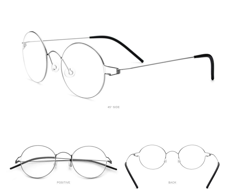 Fonex liga de titânio óculos quadro masculino