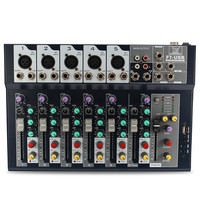 Leory Mini 7 Channel Professional Stage Live Studio Audio Mixer USB Mixing Console DJ KTV Show