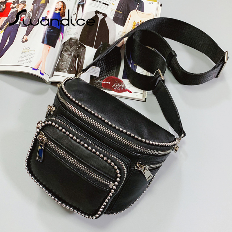 100 Real Genuine Cow Leather Ball Chain Zipper Pocket Saddle Crossbody Messenger Shoulder Handbags Chest Bags