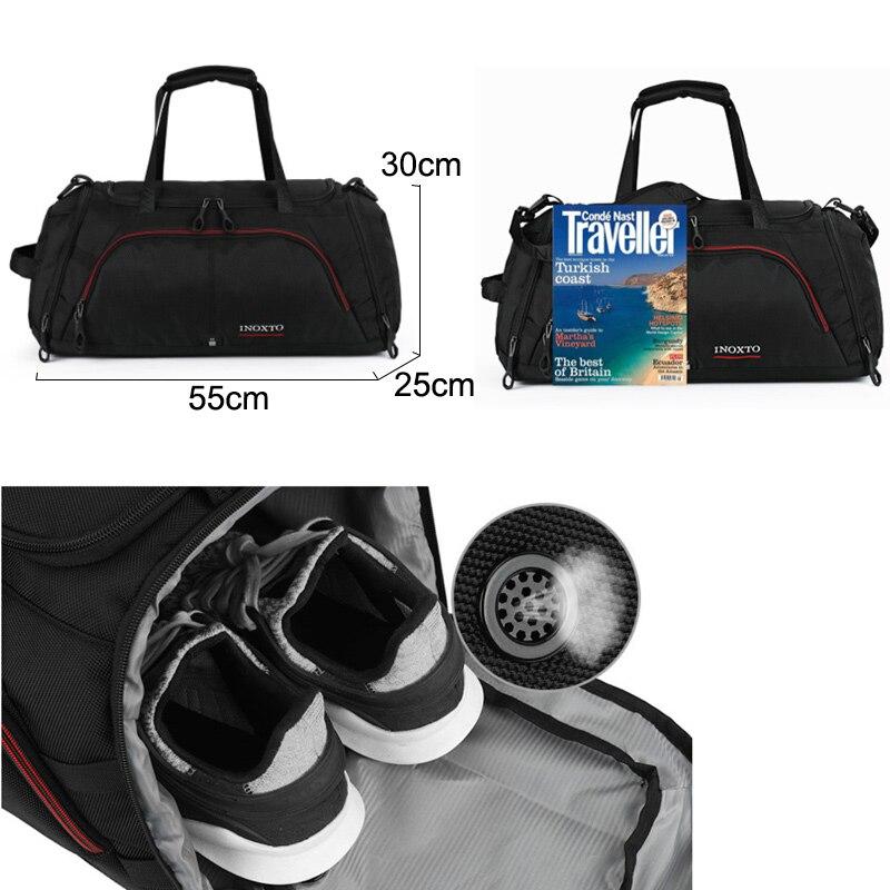 Grand Sac De Sport Sacs De Sport Fitness Voyage Durable Sacs À Main En Plein Air Chaussures Pour Sac De Sport Hommes Tas Sporttas Nylon Gymtas XA416WA - 2