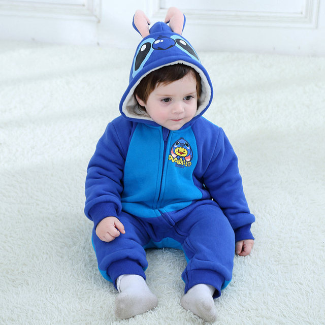 818f8a2e6366 Blue Winter Baby Jumpsuit Baby Boy Romper Baby Girls Christmas Party ...