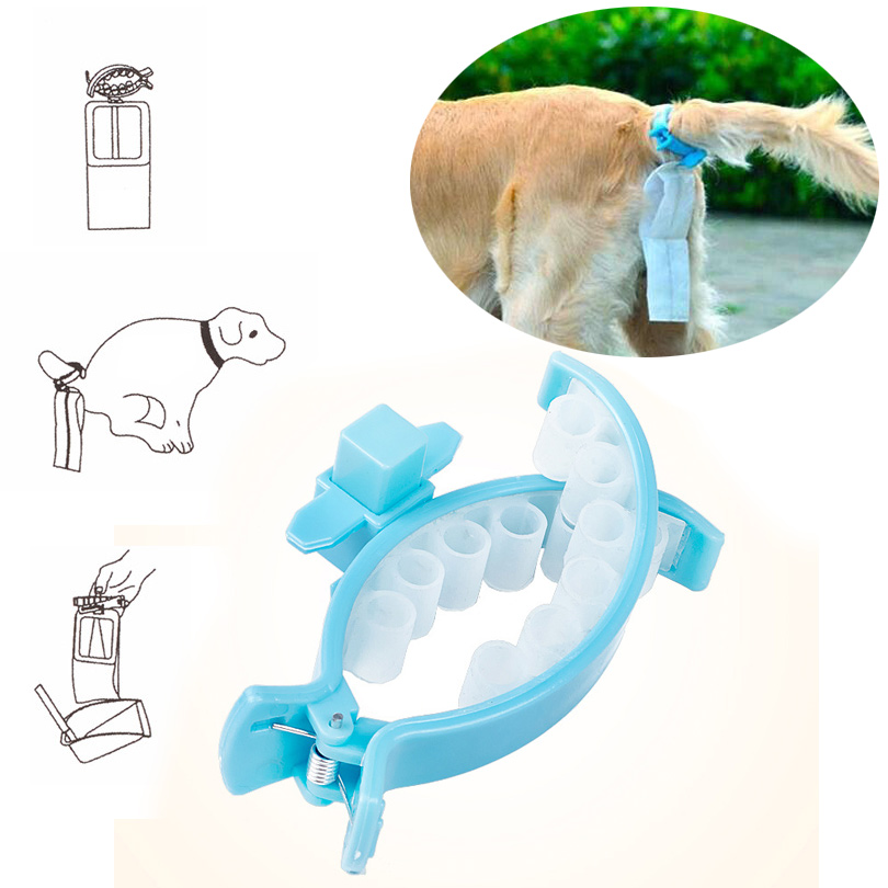 New Portable Dog Feces Bag Shovel Feces Artifact Dog Pick Up Toilet Pet Supplies Silica Gel Material Cleaning Dog Products