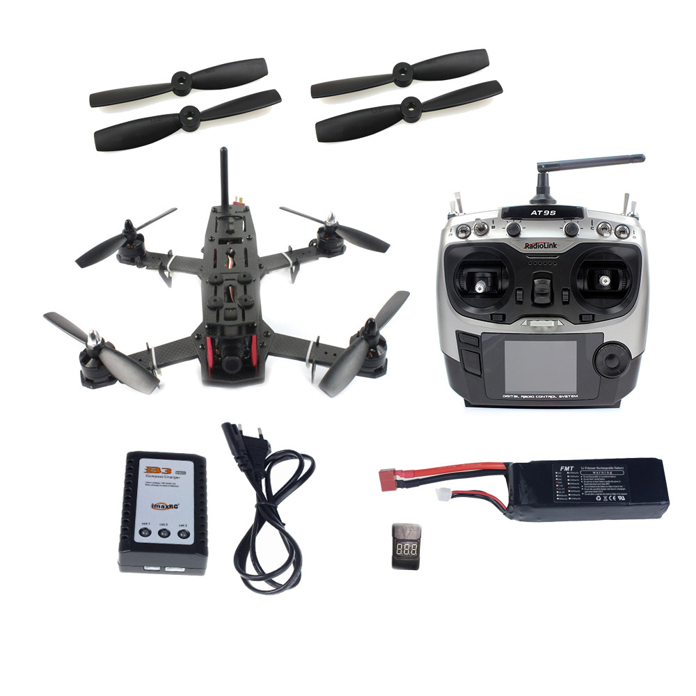 JMT DIY Racer 250 FPV RTF Drone with SP Racing F3 Flight Controller CCD Camera Radiolink AT9S TX&RX With Battery NO FPV Monitor