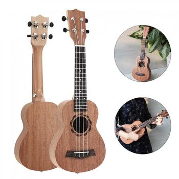 цены Ukulele 21/23/26 inch Soprano Ukulele Wood 15 Fret Four Strings Hawaii Guitar String Musical Instrument for Beginner