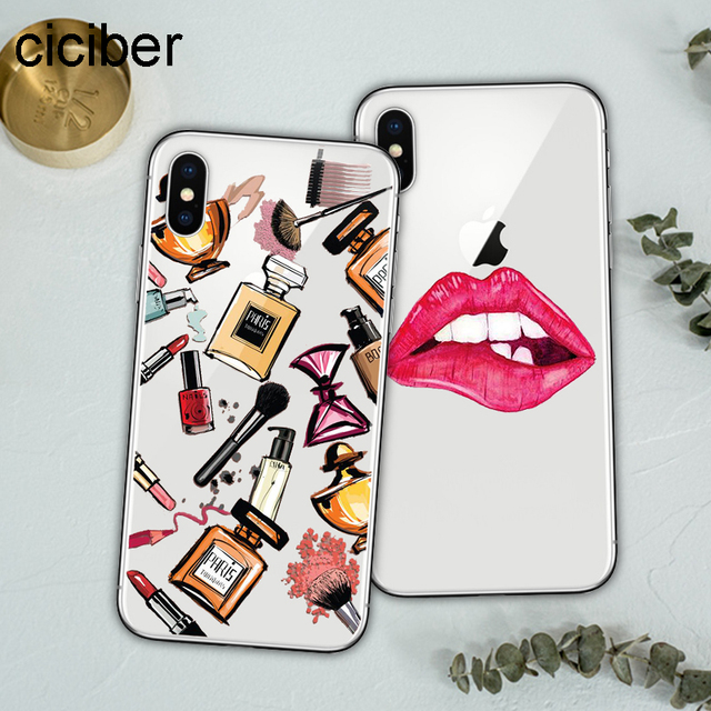 790cbc0eaa ciciber Kylie Jenner Lips Lipstick Make Up Sexy Soft Silicon Phone Cases  Cover For iPhone Case 7 6 8 6s Plus X Fundas