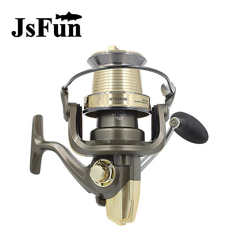 JSFUN Spinning Fishing Reel Z7000-9000 Spinnning Fishing Reel  Ball Bearings 14+1 All-metal Cup  Fishing Wheel  5.1:1 fr6 tokushima hf series all metal double bearing 5 1 bearings spinning reel 4 5 1
