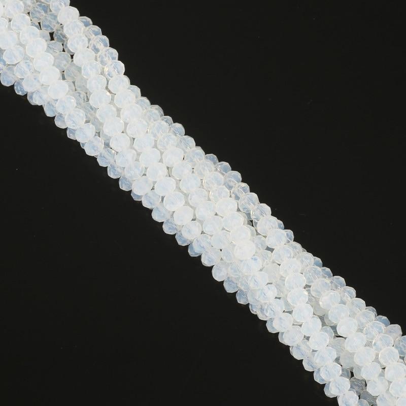 2 мм 3 мм 4 мм 6 мм 8 мм Rondelle Австрийские граненые Хрустальные стеклянные бусины Круглые свободные бусины для изготовления ювелирных изделий - Цвет: White