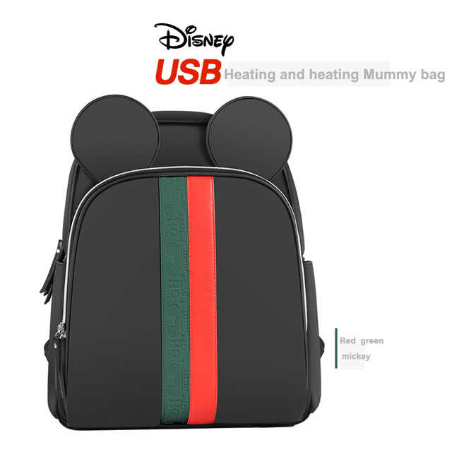 Disney Multi-function Bottle Feeding Insulation Bag With USB Mother Nappy Bags Baby Care Nappy Changing Bag 4