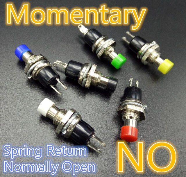 30 pcs 7mm botão de pressão momentânea interruptor pressione o botão de reset interruptor momentâneo em off botão interruptor micro normalmente aberto não