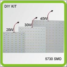 DIY KIT 120V 220V 230V 240V Square surface mounted 20W 30W 40W LED ceiling light PCB led board techo led panel replace 2D tube стоимость