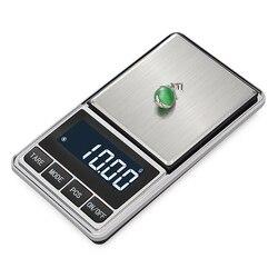 Elektroniczna waga jubilerska bilans gram skala 0.01 dokładność dla złota precyzja Mini kieszonkowy waga kuchenna w Wagi od Narzędzia na