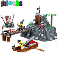 IBLOCKS Pirates Series Occupying Island Building Blocks Friends Pirate Figures DIY Assembly Brick Learning Toys For Children Boy