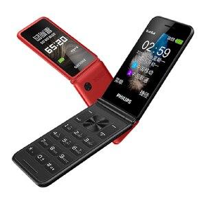 Image 5 - מקורי פיליפס E256S 2.4 inch 1300mAh סוללה אחת מצלמה רדיו FM Dual SIM 2G flip מקלדת טלפון מהיר חינם