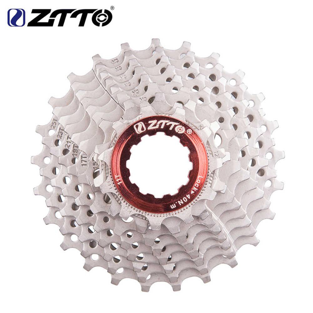 5dfc12ea9a2 ZTTO Road Bicycle Cassette Freewheel 9 Speed Cassette 9s 11-25T/28T Bike  Sprockets