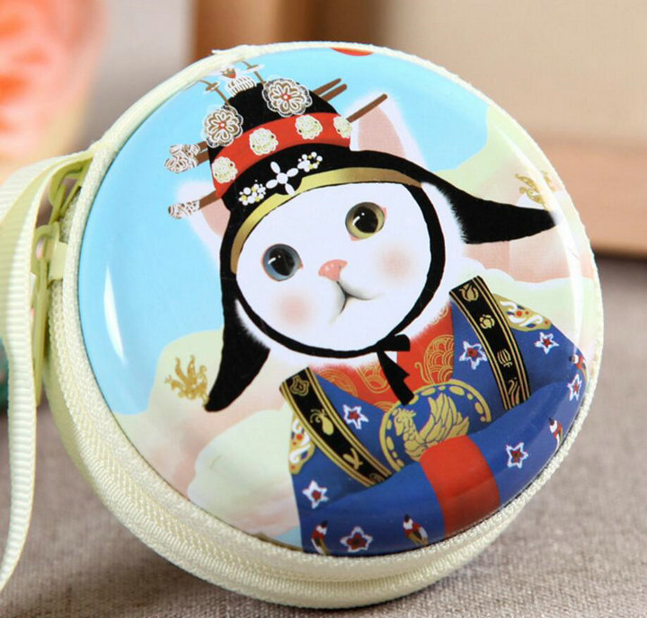 KVKY Hot Creative Wallet Cute Cat Cartoon Coin Purses Character Mini Portable Bags/Cases For Girls & Women Coin Bag Purses H65 hot sale cartoon coin purses children plush mini bags female coin bag women zipper character wallets