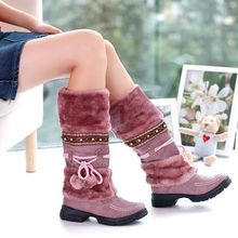 2016 hot-selling thick-bottomed Martin boots plush snow boots winter warm women's cotton shoes