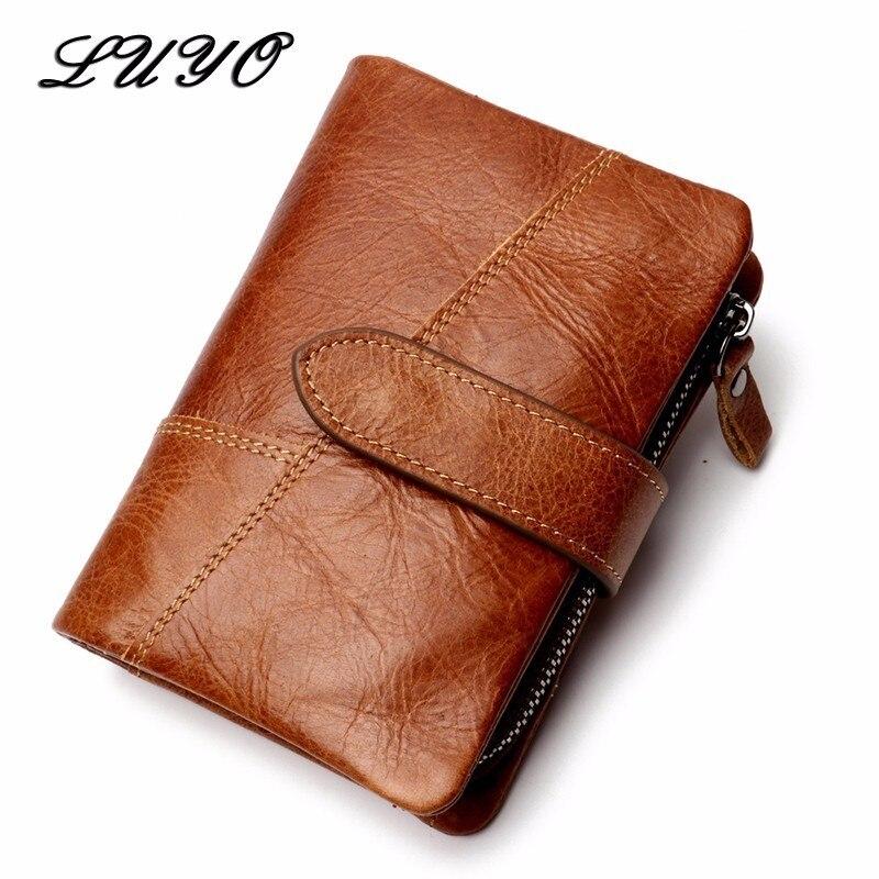 Natural Genuine Leather Men Wallets Carteira Masculina Card Holder Billetera Hombre Purse Male Wallet Bag Real Carteras Walet