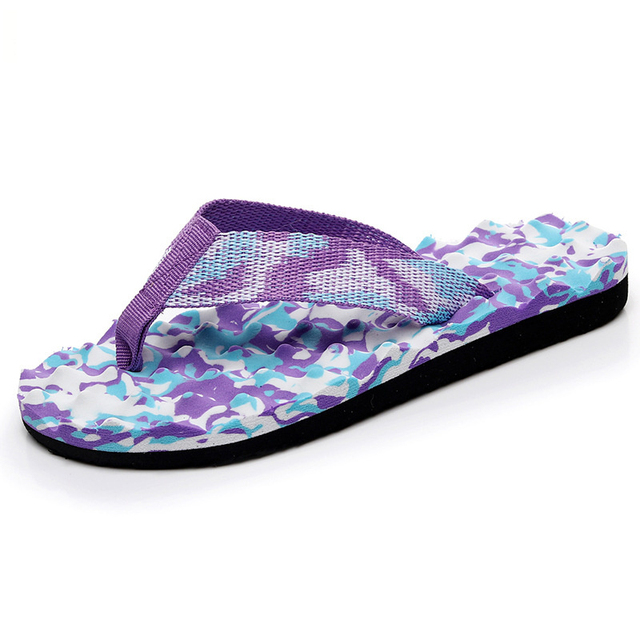 245b9e832fbe Women Flip Flops Slippers Summer Fashion Indoors Shoes Camouflage Sandals  For Ladies 2018 Bathroom Slippers