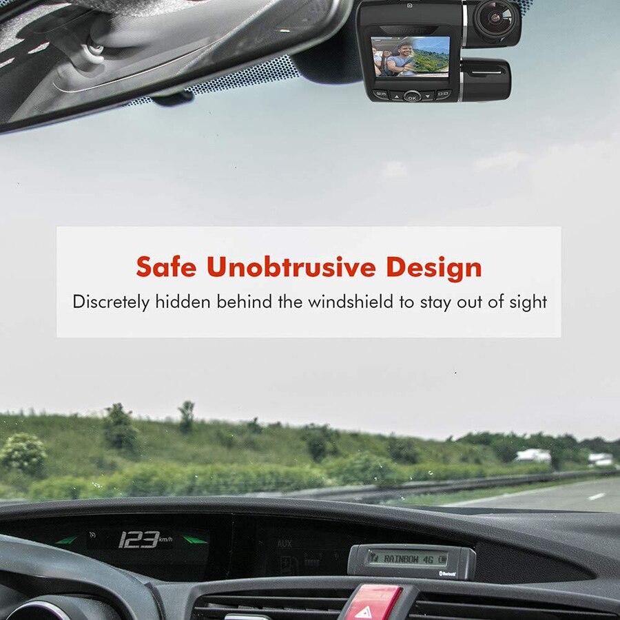WHEXUNE mini Dashcam doble lente coche DVR Cámara Novatek 96663 grabadora de vídeo Full HD 1080P 2,0 pulgadas pantalla LCD super visión nocturna - 4