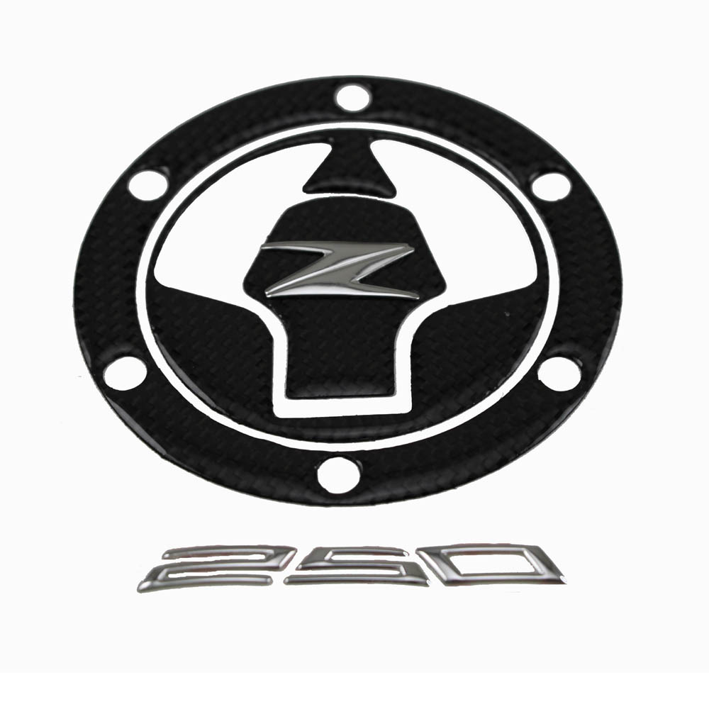 KODASKIN Real Carbon Fiber Tank Gas Cap Pad Filler Cover Sticker Decals Fit for KAWASAKI Z250 NINJA250