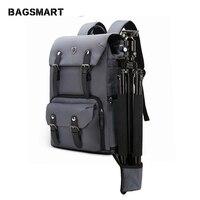BAGSMART Камера рюкзак холст кожаный рюкзак многофункциональный Водонепроницаемый Камера сумка дорожная сумка для Камера NATIONAL GEOGRAPHIC