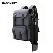 цена на BAGSMART Camera Backpack Canvas Leather Backpack Multifunctional Waterproof Camera Bag Travel Bag for Camera NATIONAL GEOGRAPHIC