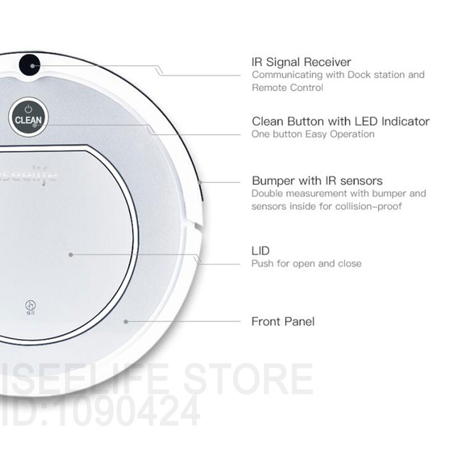 2017 ISEELIFE Intelligent Robot Vacuum Cleaner for Home PRO1 HEPA Dry Auto Charge Smart Cleaning Robotic Cleaner ROBOT ASPIRADOR