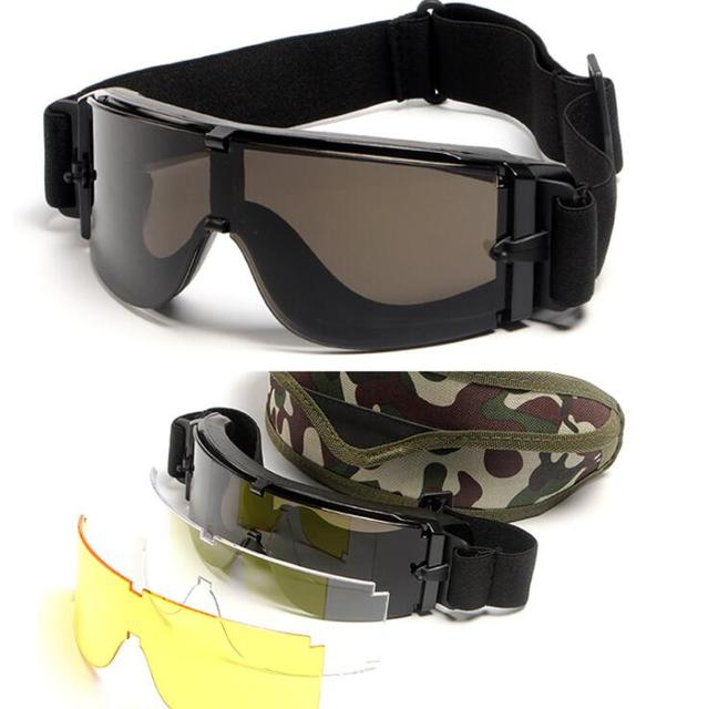 8714b16205 Best Price 3 Lens Brand X800 Polarized Tactical Sunglasses UV Protection Military  Glasses TR90 Army Google