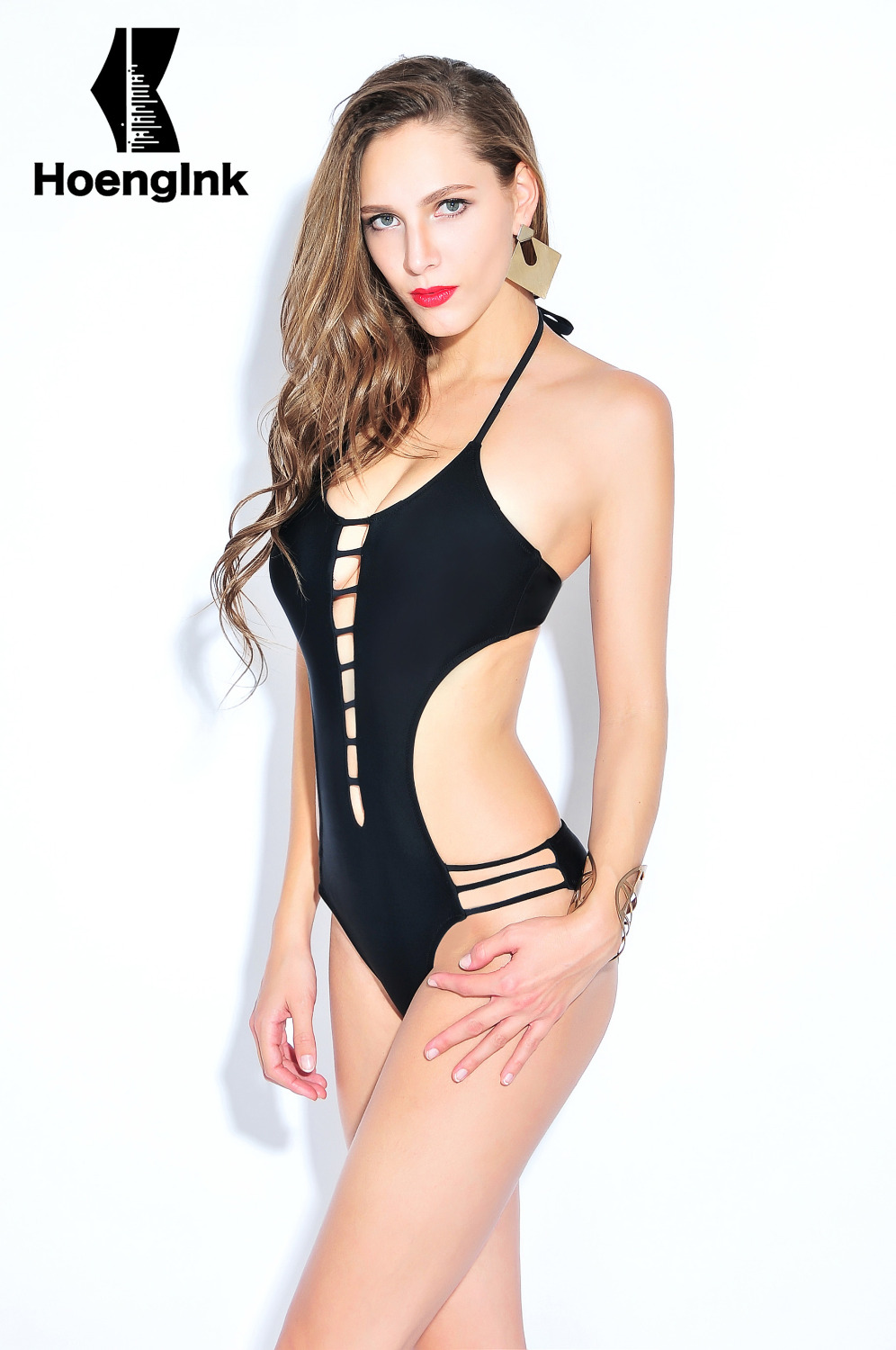 2017 BRANDMAN New black temptation sexy swimsuit hollow no back beach pool swimsuits Size S to 2XL 66083 august silk new black women s size xl sheer back knit cardigan sweater $60