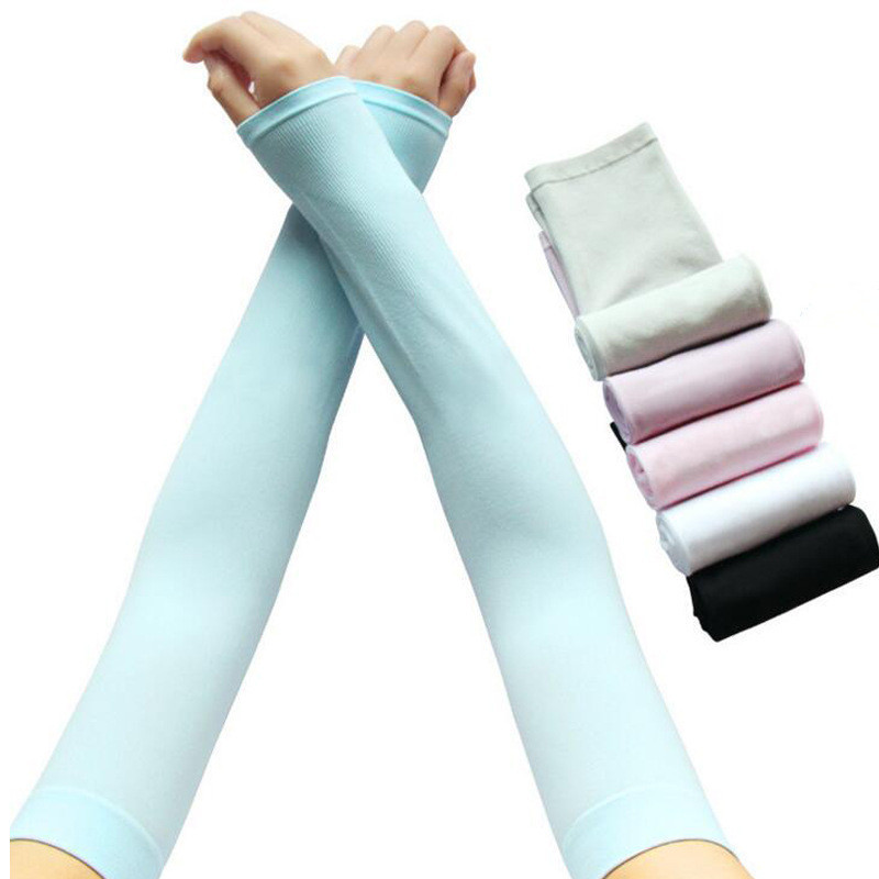 Gloves Sunscreen Sleeve Ice Sleeve Outdoor Cycling Travel Driving Basketball Thin Ice Silk Sleeve Men And Women Couple Style