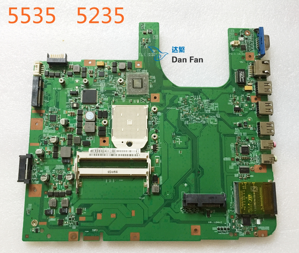 MBAUA01001 For ACER Aspire 5535 5235 <font><b>Laptop</b></font> Motherboard 08220-2 48.4K901.021 Mainboard 100%tested fully work image