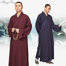 Буддийский монах халаты Китайский Шаолинь монах одеяния мужчины традиционные буддийский монах одежда Равномерное Шаолинь монах одежда Q262