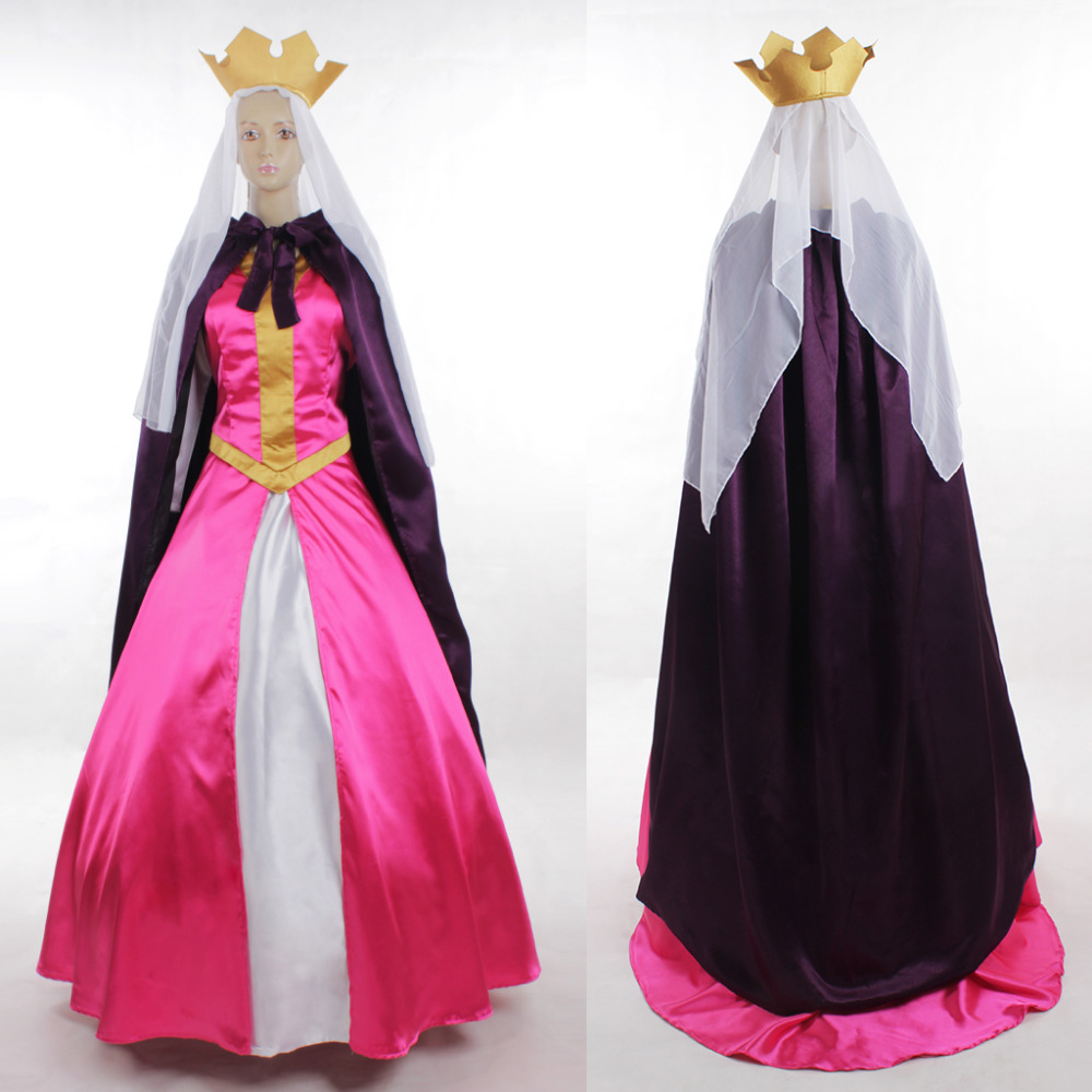 Sleeping Beauty Cosplay Queen Leah Costume Dress Adult Halloween Carnival Cosplay Costume