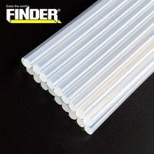 Finder-10 unids/lote barritas de pegamento de fusión caliente, 7mm/ 11mm, diámetro de 190/ 300mm de longitud para pistola de pegamento eléctrico, herramientas de reparación de álbumes artesanales