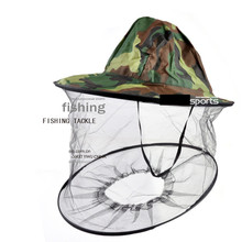 New Camouflage Anti Mosquito Fishing Cap With Net Mesh Head Cover Fisherman Repair kit Beekeeping Camping Mask Face Protect FO29