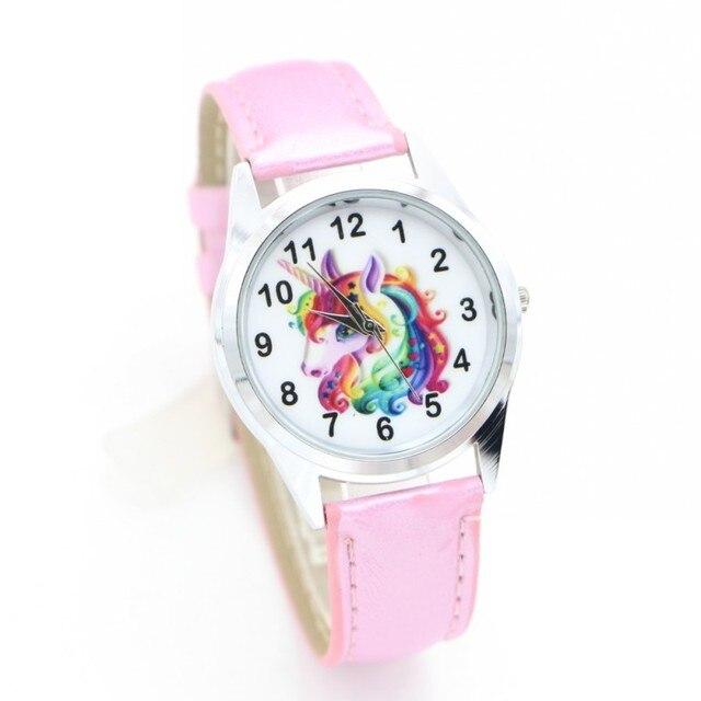 New Fashion cute unicorn desgin Brand Children Quartz Watch Kids Watches ladies