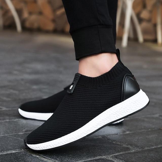 Weimostar Pria Wanita Menjalankan Sepatu murah Slip-On Bernapas Sport  Sneakers Untuk Man zapatillas deportivas 8aa5a5ba5c