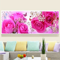 Partial Daimond Painting In The Mood For Love Rose Flower Cross Stich Kits Daimonds Embroidery Needlework