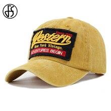 FS de verano al aire libre carta bordado Vintage gorra de béisbol para  hombres y mujeres · 6 colores disponibles aff7d23bc9f