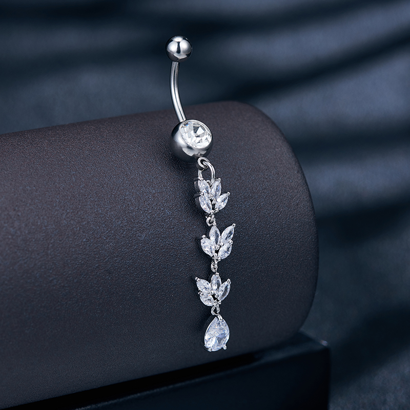 Jewelry Piercing Nail-Earrings Belly-Button Navel-Umbilical Stainless-Steel Medical Crystal-Stones